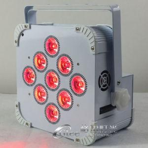 9*18W RGBWA+UV 6en1 alimentado por batería de LED DMX Uplighting inalámbrica