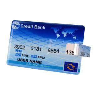 В форме кредитных карт флэш-накопитель USB с помощью полноцветной печати и двух боковых большие области печати