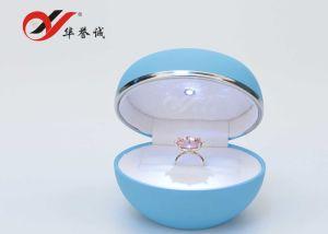 زرقاء بلاستيكيّة مجوهرات يعبر/تخزين/عرض/هبة حل صندوق مع [لد] ضوء