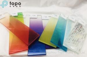 最もよい品質(LG-TP)の染められた赤い勾配薄板にされたガラス