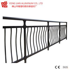 Omheining/de Vangrail van uitstekende kwaliteit van het Aluminium van de Omheining van het Profiel van de Legering van de Uitdrijving van het Aluminium de Langdurige