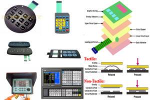 Tasti delle tastiere della membrana che imprimono con la cupola del metallo ed il LED