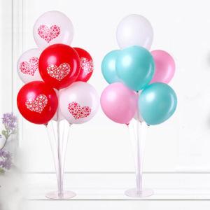 levering van de Dag van de Valentijnskaarten van de Partij van de Verjaardag van het Decor van het Huwelijk van de Basis van de Kolom van de Ballons van de Tribune van de Ballon van 70cm de Transparante Plastic