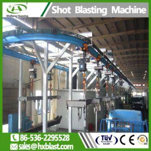 Непрерывная цепь подвешивания тип газовый баллон дробеструйная очистка машины для антикоррозийной очистки