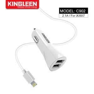 Быстрая зарядка 2.1A автомобильное зарядное устройство USB кабель для iPhone