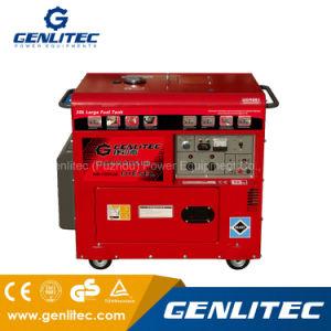 Luft abgekühltes bewegliches leises Dieselgenerator-Set 5kVA mit 30L Kraftstofftank