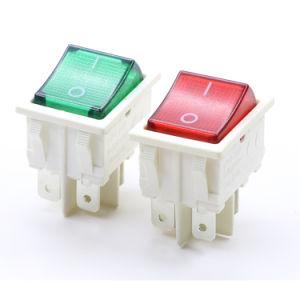 El poder de 16 A250V/25A250VAC Lámpara sumergible conmutador basculante con rojo/azul/botón verde