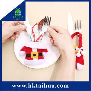 عيد ميلاد المسيح زخرفة جذّابة تصميم ترقية أداة مائدة هبة حقيبة لأنّ سكّين
