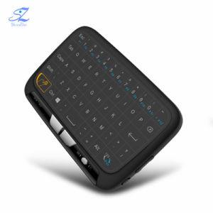 H18+2.4GHz Wireless Mini Teclado completo QWERTY, pantalla táctil de control remoto para Android TV Box PC Smart TV Box