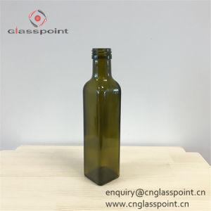 bottiglia di vetro dell'olio di oliva verde di 250ml 25cl Dorica con sughero