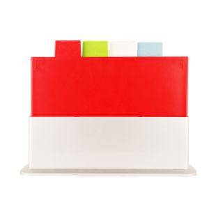 بلاستيك 4 رمّز لون [مولتي-بوربوس] فهرسة [كتّينغ بوأرد] يثبت مع تخزين حالة