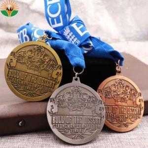 Горячая продажа Custom литой Custom спорта 3D-медали с лентой