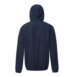 Men's Athletic Water-Resistant anorak Anorak Pullover con capucha chaqueta