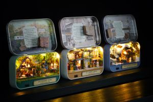 Cuteroom DIYのおもちゃの家のギフト用の箱の劇場Q-456