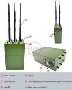 Jammer portátil construido en una mochila de la configuración, Jammer para GSM/2G/3G/4glte/GPS/Lojack/ Cámara inalámbrica/Control remoto