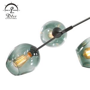 Creative Simple Bille de verre Lustre pour salle à manger de la lumière de la télécommande