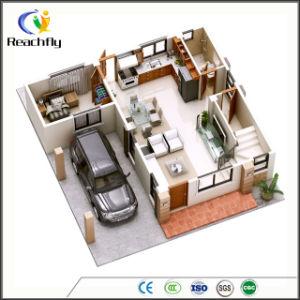 Medidor de Luz Diseño sin armazón de acero prefabricados Casa con 3 dormitorios, garaje