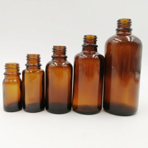 La alta calidad 5ml-100ml de aceite esencial de ámbar de la botella de cristal DIN18