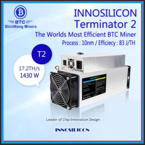 InnosiliconのターミネータのT2の最もよいBitcoin抗夫17.2th/S 1430W Inclued PSU --シンセンの在庫---自由なShiping