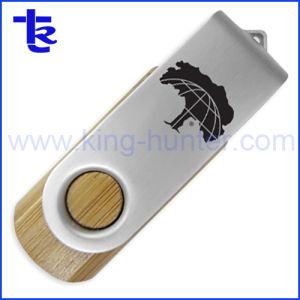 Pen Drive Flash giratorio de madera