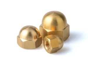10pcs Acorn écrous M6 en laiton laiton Bronze écrou borgne Acorn Dome Chef d'écrous hexagonaux