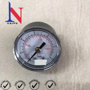 40mm Mini Disque aço macio de volta a ligação do tubo de Bourdon Medidor de Pressão