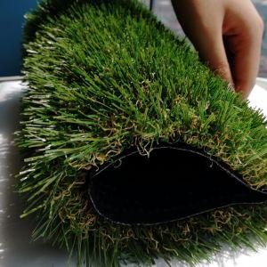 erba artificiale UV del tappeto erboso del PE 3/8 di 45mm anti