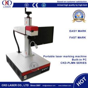 Pequenas Smart todos em uma máquina de marcação a laser de fibra portátil para impressão do logótipo do metal gravura interna do calculador