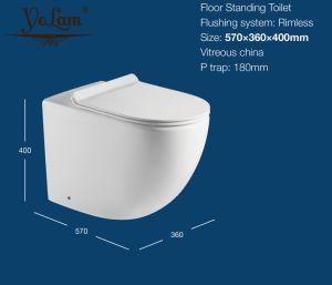 Водяной знак ванную комнату мебель напольные туалет туалет с оф сиденье (1003D)