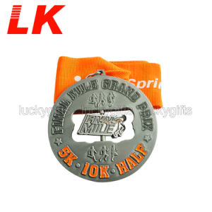 Medaglia corrente del metallo di promozione del regalo di sport in lega di zinco su ordinazione di maratona