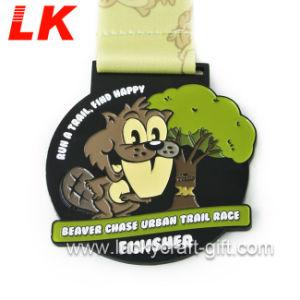 安い習慣5Kのマラソンのスポーツの金属賞のメダルおよびリボン