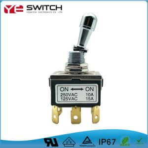 自動車部品のための防水電子LEDによって照らされるトグル電源スイッチの気転のマイクロロッカーの押しボタンスイッチ
