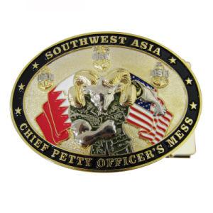Kundenspezifisches Gold überzog uns Southwest Asien-Metallpin-Gürtelschnalle für Gebrauch Obermaat-(014)