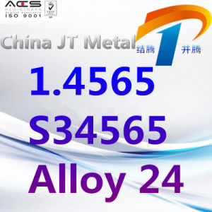 1.4565 S34565 legeren de Staaf van de Pijp van de Plaat van Roestvrij staal 24, de Leverancier van China