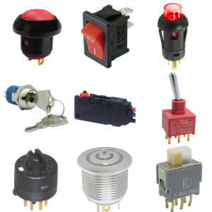 LED aceso momentânea elétrico Alternar o interruptor de chave de segurança deslize o interruptor de botoneira Micro das válvulas para aplicações automotivas