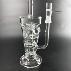 Transparente Glaspfeife des Zirkulations-Filters
