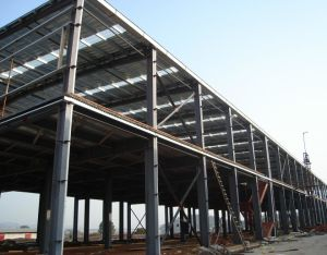 GB estándar chino edificio comercial de bastidor de la estructura de acero / Sala de Exposiciones Exposición /