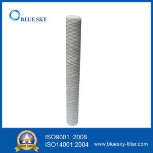Chaîne de PP de 50 microns de sédiments plaie cartouche de filtre à eau 20 pouces de long
