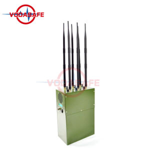 Emittente di disturbo /Blocker di Inhibotors Manpack del segnale per la radio a frequenza ultraelevata di CDMA/GSM/3G2100MHz/4glte Cellphone/VHF/, telefoni satelliti di Sat: 1520-1670MHz