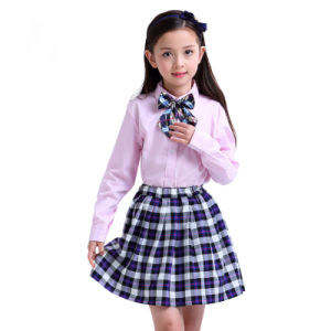 Personalizado elegante traje de niña de la escuela primaria los estudiantes  de Uniformes ropa a1a8720cd86