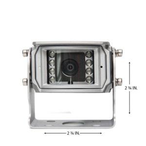 Vista traseira da câmara à prova de água com luzes de infravermelhos