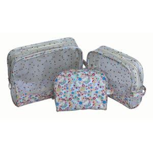 防水ゆとりPVCビニール旅行洗面用品の化粧品の洗浄袋装飾的な袋の透過袋