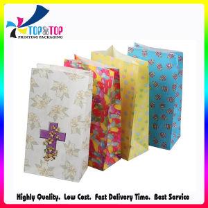 Folhas verdes de moda personalizada de compras de Natal para embalagens de acondicionamento de saco de impressão