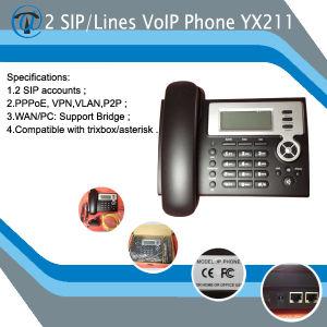 Teléfono IP de 2 líneas de teléfono VoIP con VPN (YX-211)