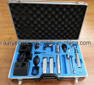 Het Geval van het aluminium voor Medische Instrumenten met het Blauwe Schuim van het Knipsel