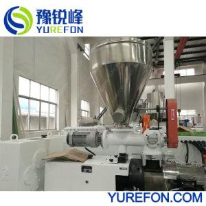 Máquina Extrusora de doble tornillo cónico para tubería de PVC de plástico, el perfil