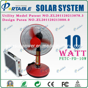 Sistema solar portátil 10W/ Home Uso/ generador de energía (PETC-FD-10W)
