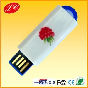 Sale熱いPromotional USB Stick、Customized USB Stick、Data、Logo PrintのUSB Flash DriveのBrand Leather USB Flash Drive 8GB