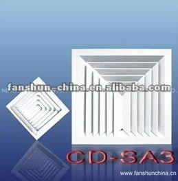 3 Verspreider van de Airconditioner van het Plafond van de manier de Vierkante