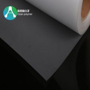 Imprimindo um lado brilhante para um lado fosco) Folha de PVC rígido de plástico transparente para o manu cobrir
